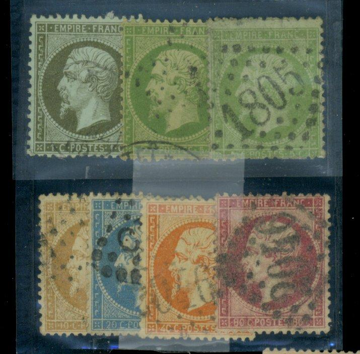 France #22-28 Used Fine Cat$210.85