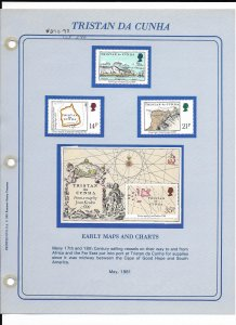 Tristan Da Cunha # 290-92 Mint Hinged. # 293 Souvenir Sheet Mint Never Hinged