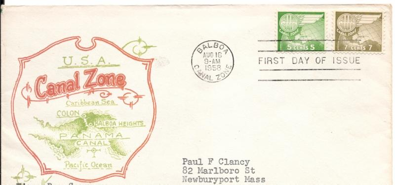 CZ#C27 and CZ#28 on First Day Cover - Color Map Cachet