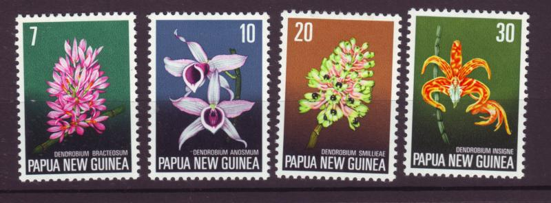 J18743 JLstamps 1974 P.N.G. set mlh #402-5 flowers