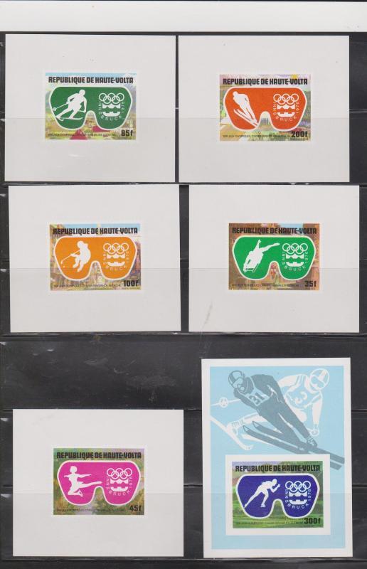 UPPER VOLTA - Series Of Souvenir Sheets - Innsbruck Winter Olympics 1976