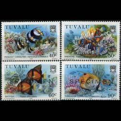 TUVALU 1989 - Scott# 524-7 Marine Life Specimen Set of 4 NH