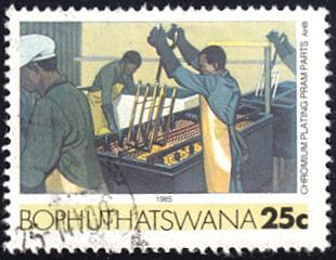 Bophuthatswana # 155 used ~ 25¢ Chromium Plating