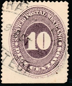 MEXICO 180, 10cents LARGE NUMERAL, USED. F-VF. (85)