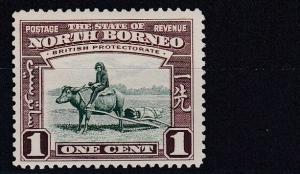 NORTH BORNEO  1939  S G 303  1C  GREEN & BROWN  MH