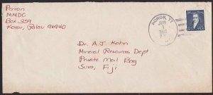 PALAU 1982 USA 40c on commercial cover Koror to Fiji.......................5960