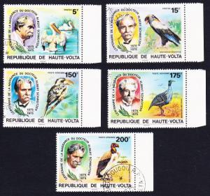 Upper Volta Birds Dr. Albert Schweitzer 5v CTO with margins SC#368-369+C212-C214