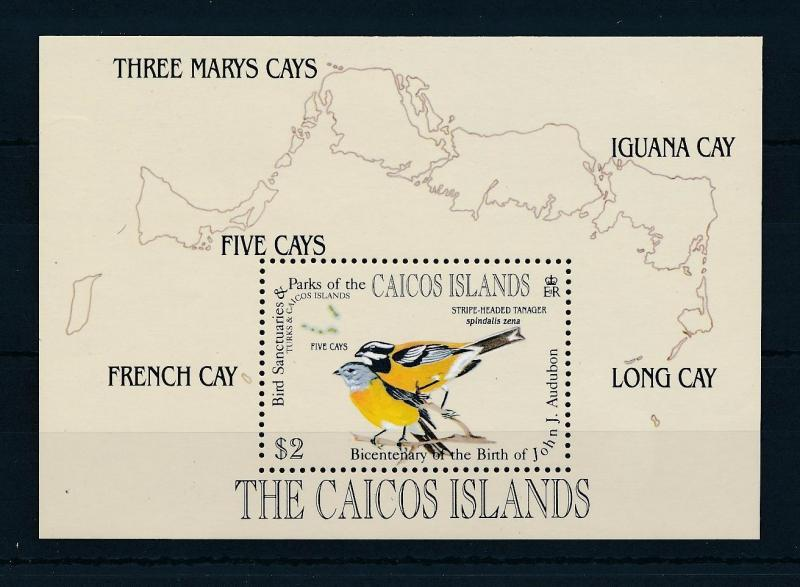 [52961] Caicos Islands 1985 Birds Vögel Oiseaux Ucelli  MNH Sheet