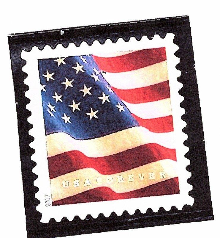 5162 US Flag (MOUNTED CENTER STAMP VF/EF) 2017 Mint NH