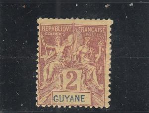 French Guiana  Scott#  33  MH  (1892 Navigation & Commerce)