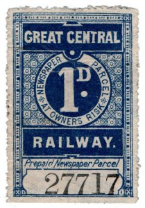(I.B) Great Central Railway : Newspaper Parcel 1d