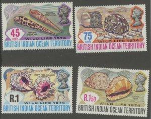 British Indian Ocean Territory 59-62 * mint LH seashell (2107 276)