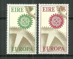 1967 Ireland #232-3 Europa Cept C/S of 2 MH