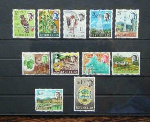 Seychelles 1962 - 1968 values to 10r Used