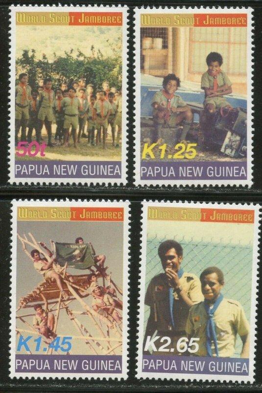 Papua New Guinea MNH 1058-61 Boy Scouts Jamboree 2003