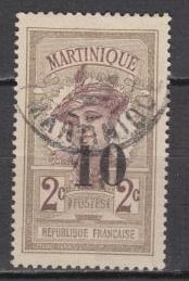 Martinique - 1920 Surcharged 10c on 2c (9643)