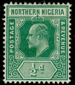 NORTHERN NIGERIA SG28, ½d green, NH MINT.