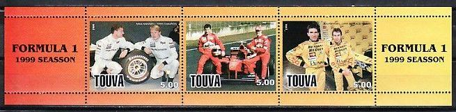 Touva, 1999 Russian Local. Formula 1, Racing Car Drivers.