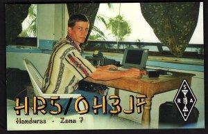 QSL QSO RADIO CARD Photo of Heikki, Henry Tamminen/Honduras-Zone 7, (Q1881)