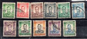 Southern Rhodesia KGVI 1937 fine used collection to 5/- SG40-52 WS12041