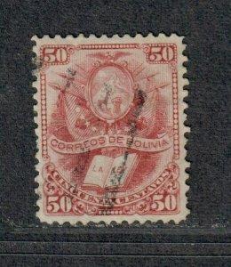 Bolivia Sc#23 Used/VF, High Value, Cv. $30