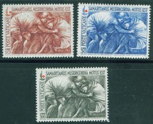 VATICAN Scott 392-4 MNH** 1964 Good Samaritan Red Cross set