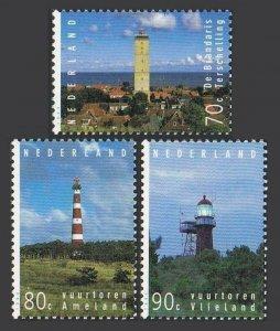 Netherlands 868-870,MNH.Michel 1522-1524. Lighthouses 1994. Brandaris, Ameland,