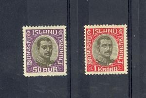 Iceland Scott O46-O47     [ID#431307]