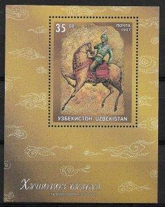 1997 Uzbekistan 139 Fairie Tales/ Man on Horse MNH S/S