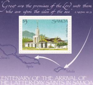 Samoa # 720, Later Day Saints Temple, NH, 1/2 Cat.