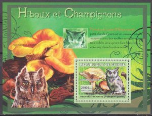 2007 Guinea 4741/B1196 Mushrooms and Owls 7,00 €