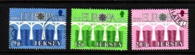 Jersey Sc 326-8 1984 Europa stamp set used