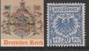 GERMANY - 1889 REICH Mi 48 cv 300$ MH* very fine condition