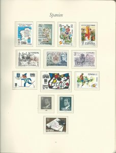 Small Collection of Late 1981-1984 Spain Unused Never Hinged