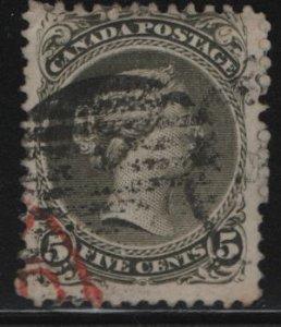 Canada, 26, USED, 1868-76, Queen Victoria