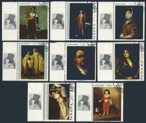 Panama 481-481G,481H,CTO.Mi 1019-1026,Bl.79. Painting by Francisco Goya,1967.