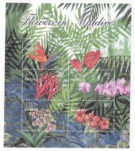Maldives MNH S/S 2767 Tropical Flowers 2003