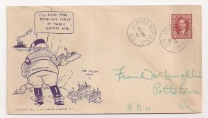 Canada 3c #233 on Scarce Patriotic Cover w Mussolini Roberts