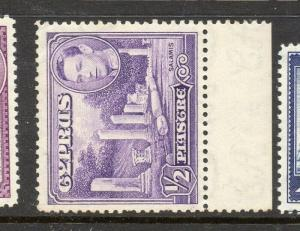 Cyprus 1938 Early Issue Fine Mint hinged Marginal 1/2p. 303654