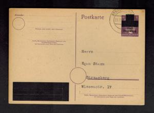 1945 Strausberg Germany Obliterated Hitler PostCard Cover