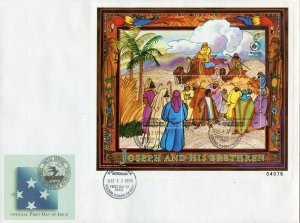 MICRONESIA 1998 BIBLE STORIES 'JOSEPH AND HIS BRETHREN' SHEET FIRST DAY COVER