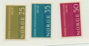 Norway Scott #443 To 445, Norwegian Textile Industry Issue From 1963, MNH - F...