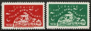 Turkey 1436-37  MNH - NATO 10th Anniversary - 1959