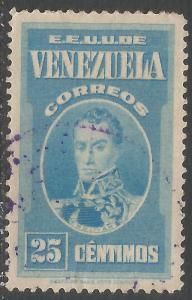VENEZUELA 331 VFU BOLIVAR R457-3