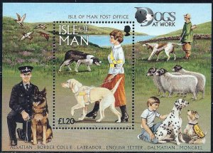 Isle of Man 1997,Dogs MNH S/Sheet # 722