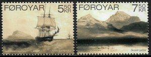 Faroe Is #481-2 MNH Complete Set - Antique Art