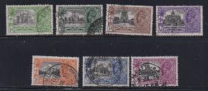 India Sc 142-8 1935 Silver Jubilee George V stamp set used