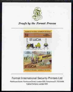St Lucia 1983 Locomotives #1 (Leaders of the World) $2 St...