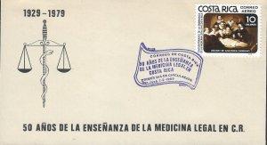 COSTA RICA ANATOMY LESSON, by REMBRANDT Sc C777 FDC 1980