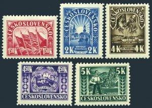 Czechoslovakia 288-292,MNH.Michel 455-459. National uprising:WW II,1965.Events.